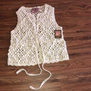 Juicy Couture Crotchet vest size petite